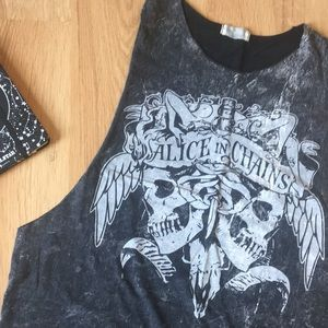 Tops - Alice In Chains Muscle Tank